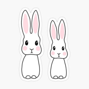 Cute cartoon bunny rabbit stickers