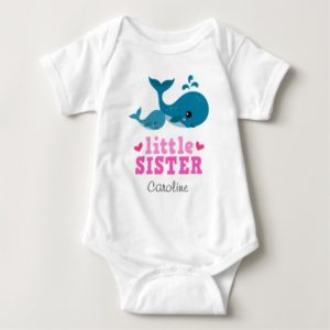 Little sister baby one-piece